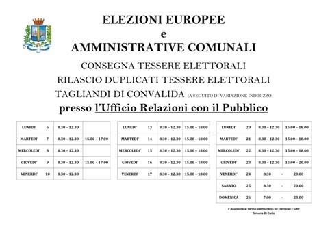 orario-uffici-comune-rilascio-tessere-elettorali