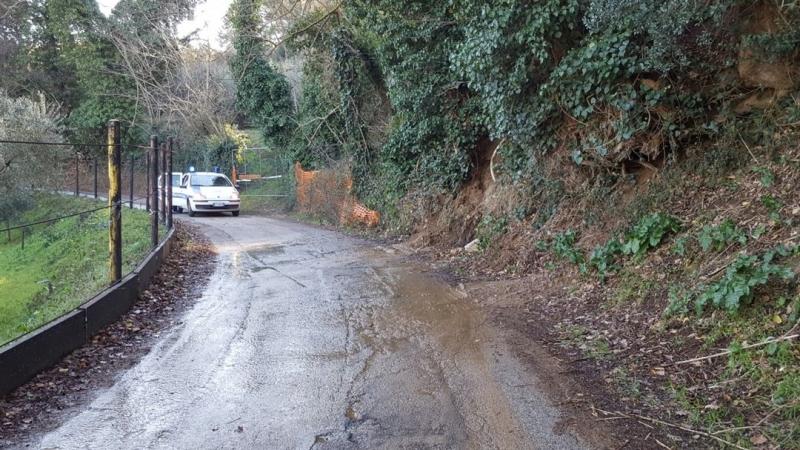 perdita d'acqua smottamento strada casone chiusa (1)