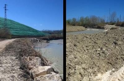 L'argine del fiume Saline ripristinato