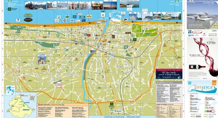 Pescara Cartina.Nuova Cartina Di Pescara Gratis 25mila Copie Ecco Dove Trovarla