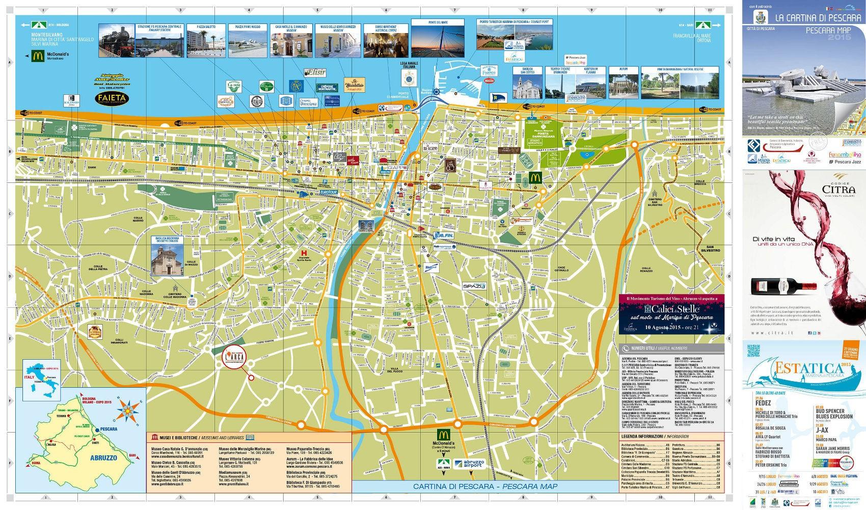 Cartina Dettagliata Abruzzo.Nuova Cartina Di Pescara Gratis 25mila Copie Ecco Dove Trovarla Pescarapost