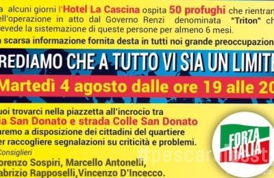 volantino per incontro domani a San Donato su immigrati