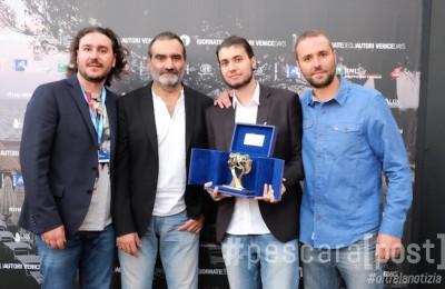 Premio Siae 2015 (1) da sx Alessandro Di Felice, Gianluca Arcopinto, Lorenzo Berghella, Cristiano Di Felice