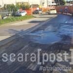 Via Valle Roveto perdita d'acqua