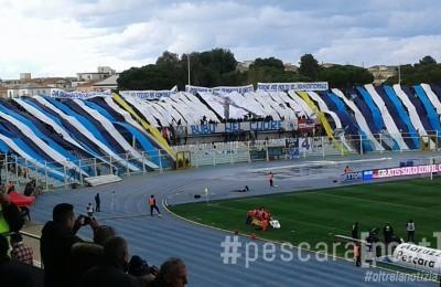 curva nord stadio adriatico bubu marco mazza coreografia