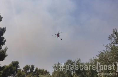 incendio elicottero vigili del fuoco