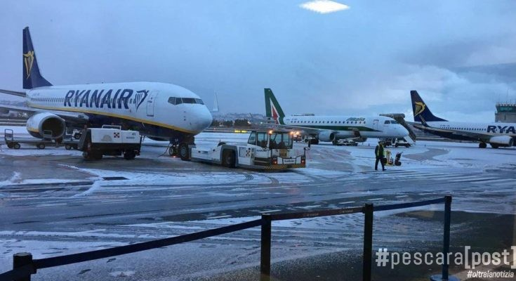 aeroporto pescara neve