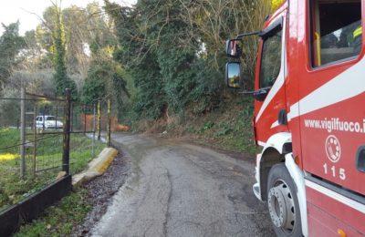 perdita d'acqua smottamento strada casone chiusa (2)