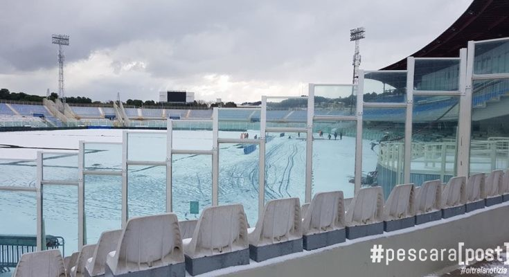 stadio adriatico neve