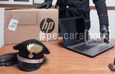 furto computer scuola spoltore carabinieri