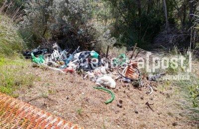 strada colle breccia rifiuti