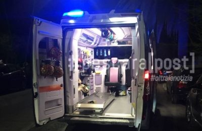 ambulanza notte lungomare riviera