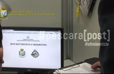guardia finanza sito internet sequestro pirateria