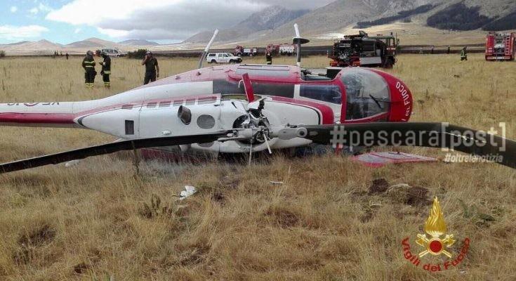 Elicottero Vigili Fuoco : Elicottero vigili del fuoco caduto sul gran sasso
