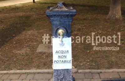 fontana acqua non potabile