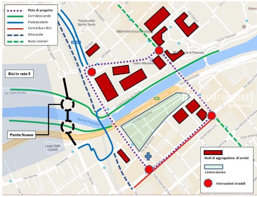 Cartina Piste Ciclabili Olanda.Mappe Piste Ciclabili Pescara Pescarapost