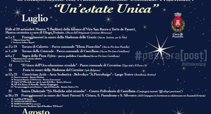 Calendario Pizzica.Pianella Eventi Estate 2019 Calendario E Programma Luglio