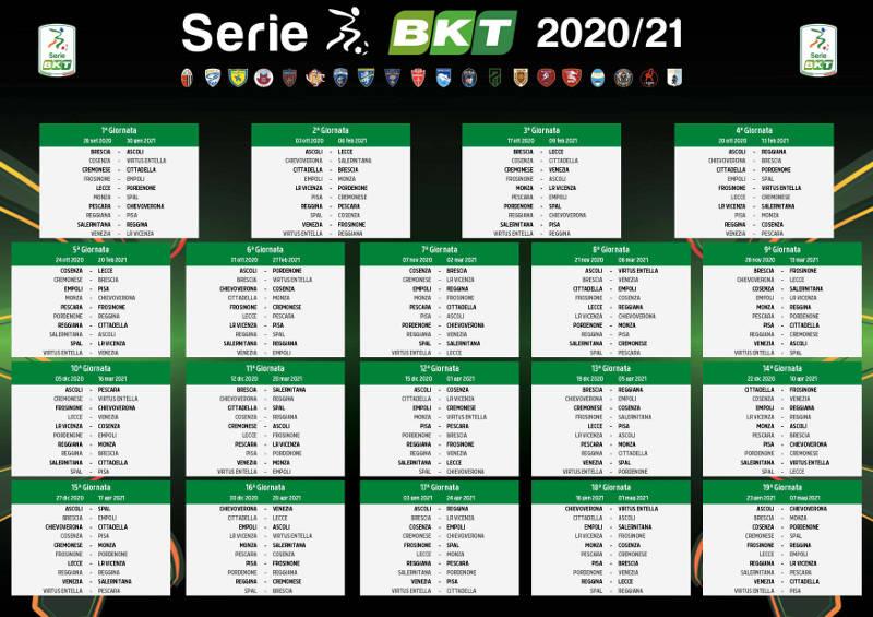 Calendario Serie B 2020 2021, date e giornate: programma completo